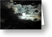 Lunar Greeting Cards - Highwayman Greeting Card by Valerie Rakes