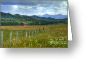 Alberta Foothills Landscape Greeting Cards - Highwood Pass Greeting Card by Chris Wulff