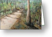Interior Design Pastels Greeting Cards - Hiking Silver River State Park Greeting Card by Larry Whitler