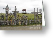 Must See Greeting Cards - Hill of Crosses 01. Lithuania Greeting Card by Ausra Paulauskaite