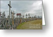 Must See Greeting Cards - Hill of Crosses 02. Lithuania Greeting Card by Ausra Paulauskaite