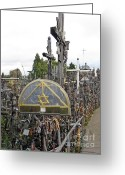 Must See Greeting Cards - Hill of Crosses 04. Lithuania Greeting Card by Ausra Paulauskaite