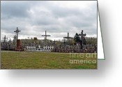 Must See Greeting Cards - Hill of Crosses 05. Lithuania Greeting Card by Ausra Paulauskaite