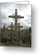 Must See Greeting Cards - Hill of Crosses 06. Lithuania.  Greeting Card by Ausra Paulauskaite