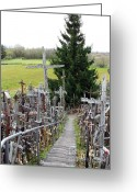 Must See Greeting Cards - Hill of Crosses 07. Lithuania Greeting Card by Ausra Paulauskaite