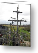 Must See Greeting Cards - Hill of Crosses 11. Lithuania Greeting Card by Ausra Paulauskaite