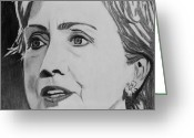 Hillary Clinton Greeting Cards - Hillary Clinton Greeting Card by Kenneth Regan