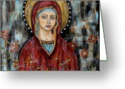 Angel Pastels Greeting Cards - Hillary Greeting Card by Rain Ririn