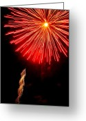 4th July Digital Art Greeting Cards - Hilliard Ohio Firework 2  Greeting Card by Beth Akerman