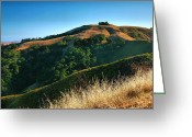 Golden Framed Prints Greeting Cards - HIlls Of San Luis Obispo III Greeting Card by Steven Ainsworth