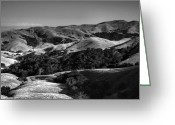 Landscape Framed Print Greeting Cards - Hills of San Luis Obispo Greeting Card by Steven Ainsworth