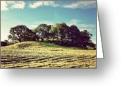 Sky Greeting Cards - #hills #trees #landscape #beautiful Greeting Card by Samuel Gunnell