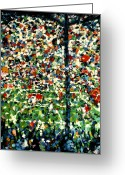 Football Painting Greeting Cards - Hillsborough Greeting Card by Andy  Mercer