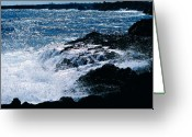Big Island Greeting Cards - Hilo coast waves Greeting Card by Gary Cloud