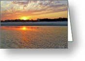 Shoreline Greeting Cards - Hilton Head Beach Greeting Card by Phill  Doherty