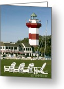 Lighthouse Greeting Cards - Hilton Head Island Lighthouse Greeting Card by Dustin K Ryan