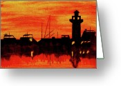 Carolina Painting Greeting Cards - Hilton Head Lighthouse Greeting Card by Michael Vigliotti