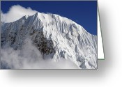 Snowcapped Greeting Cards - Himalayan Mountain Landscape Greeting Card by Pal Teravagimov Photography