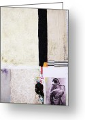 Black And White Photos Mixed Media Greeting Cards - Hindsight Greeting Card by Michel  Keck