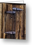 Door Hinges Greeting Cards - Hinges Greeting Card by Kelley King