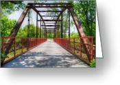 "\\\\\\\""boone County Photo Greeting Cards - Hinkson Creek Bridge Greeting Card by Cricket Hackmann"