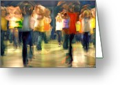 Dancing Greeting Cards - Hip Hop Dance Night Greeting Card by Robert Lacy