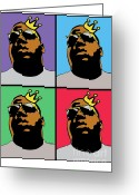 Big Poppa Greeting Cards - Hip Hop Icons The Notorious Big Greeting Card by Stanley Slaughter Jr