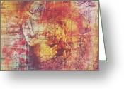 Abstract Framed Prints Framed Prints Greeting Cards - Hippies And The Sun Greeting Card by Jerry Cordeiro