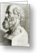 Personality Greeting Cards - Hippocrates, Greek Physician Greeting Card by Science Source