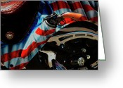 Cycles Digital Art Greeting Cards - His Cowboy Harley  Greeting Card by Steven  Digman