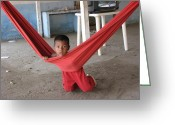 Taganga Greeting Cards - His hammock Greeting Card by Gal Moran