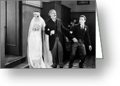 Tuxedo Greeting Cards - His Marriage Wow, 1925 Greeting Card by Granger