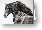 Caballo Greeting Cards - Hispano - PRE Stellion Greeting Card by Sabine Lackner