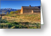 Solider Greeting Cards - Historic Francis Tate Barn - Wasatch Mountains Greeting Card by Gary Whitton