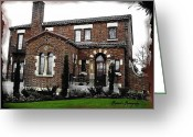 Ruston Greeting Cards - Historic House Greeting Card by Sadie Reneau