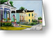 Louisiana Greeting Cards - Historic Louisiana Homes Greeting Card by Elaine Hodges