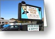 Welcome Signs Greeting Cards - Historic Niles District in California Near Fremont . Welcome To Niles Sign . 7D10603 Greeting Card by Wingsdomain Art and Photography
