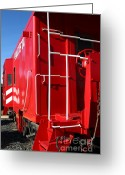 Old Caboose Greeting Cards - Historic Niles District in California Near Fremont . Western Pacific Caboose Train . 7D10622 Greeting Card by Wingsdomain Art and Photography