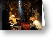 Historic Furniture Greeting Cards - Historic Prison Cell of Al Capone Greeting Card by Gary Whitton