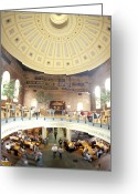 Suffolk County Greeting Cards - Historic Quincy Market In Boston Greeting Card by Richard Nowitz