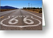 Road Greeting Cards - Historic Route 66 Greeting Card by Cedric Darrigrand