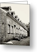 Terry Deluco Greeting Cards - Historic Row Homes Allaire Village Greeting Card by Terry DeLuco