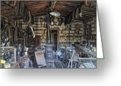 Ghost Town Greeting Cards - Historic Saddlery Shop - Montana Territory Greeting Card by Daniel Hagerman