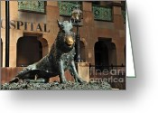 Boar Greeting Cards - Historic Sydney Hospital - Florentine Boar Greeting Card by Kaye Menner
