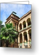 Archways Greeting Cards - Historic Sydney Hospital - Front View Greeting Card by Kaye Menner