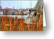 Ship-wreck Greeting Cards - Historic Wilmington Greeting Card by JC Findley