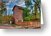 Grinders Greeting Cards - Historic Woods Grist Mill Greeting Card by Scott Wood
