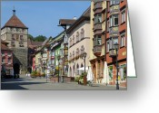 Tor Greeting Cards - Historical old town Rottweil Germany Greeting Card by Matthias Hauser