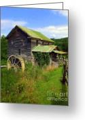 Old Mills Greeting Cards - Historical Whites Mill Greeting Card by Karen Wiles
