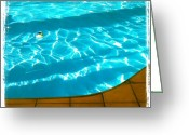 Igdaily Greeting Cards - Hit The #pool. #water #abstract #summer Greeting Card by Adam Romanowicz